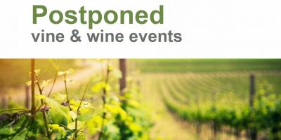 Postponed international vine and wine events